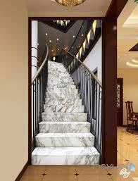 3D Modern Marble Stairs Corridor ...