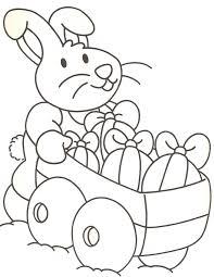 Disegni Da Colorare E Stampare Gratis Coniglio Con Carrello