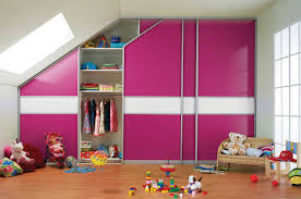 childrens fitted bedroom furniture. fitted sliding wardrobe pink white glass childrens bedroom furniture