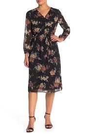 Daniel Rainn Size Chart Dr2 By Daniel Rainn V Neck Long Sleeve Dress Hide Buy