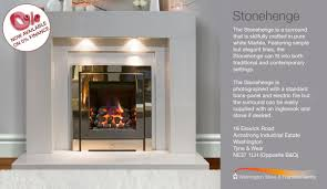 Featuring simple but elegant lines, the Stonehenge can fit into both  traditional and contemporary settings. http://www.washingtonfireplaces.com/  ...