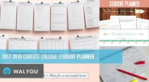 2017 2018 Coolest College Student Planner Walyou
