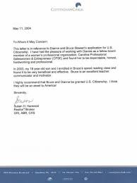 Good Moral Character Letter For Immigration Recommendation