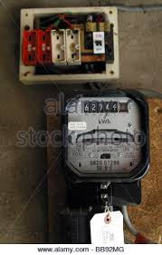 electric meter and a old style wire fuse box stock photo 24171335 old style fuse box colours electric meter and a old style wire fuse box stock photo