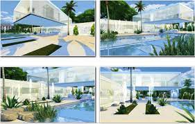 white glass house 3 sims 4 houses