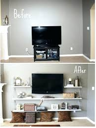 shelves for wall mount tv best collection 2 shelf wall mount bracket for tv components