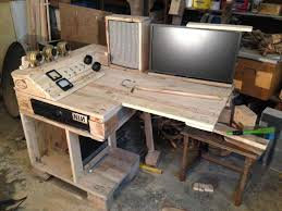 pallet furniture desk. steampunk pallet desk monitor mounting furniture