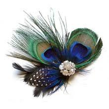 Милый <b>зажим для волос с</b> перьями павлина - купить недорого в ...