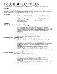 air import export agent resume example military resume example