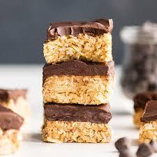 healthy no bake oatmeal bars