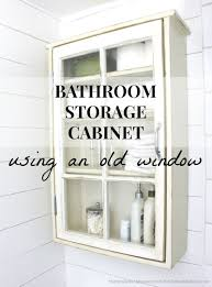 Unique Bathroom Storage Bathroom Storage Cabinet Using An Old Window Planked Walls The
