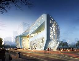Sure Architecture's Perforated Yinchuan Exhibition Center Reflects Islamic  Architecture in Northwest China | Inhabitat - Green Design, Innovation, ...