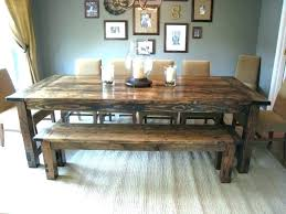 farm table with bench and chairs farm table with metal chairs farmhouse table with bench and