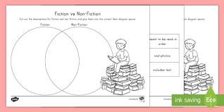 Fiction Vs Nonfiction Venn Diagram Fiction Vs Non Fiction Venn Diagram Worksheet Activity Sheet Graphic