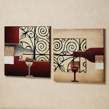 Square Metal Wall Decor Divine Double Square Metal Artworks Wine And Bottles Kitchen Wall