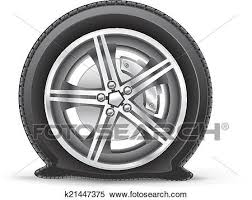 flat tires clipart. Contemporary Flat Clipart  Flat Tire Fotosearch Search Clip Art Illustration Murals  Drawings And Throughout Flat Tires I