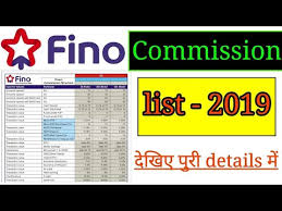 Fino Payment Bank Commision Structure 2019