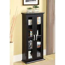 Wood Glass Display Cabinet Modern Curio Case Cabinet Small Trophy With Doors