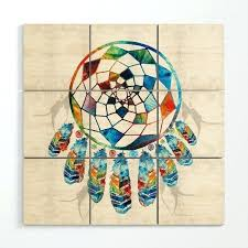 native american wall art native colorful dream catcher by wood wall art native american wood wall