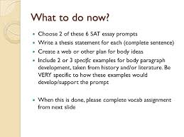 History Examples For Sat Essay Sat Essay Tips For A Great