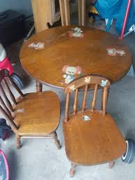 antique kids table and 2 chairs in farmington mn