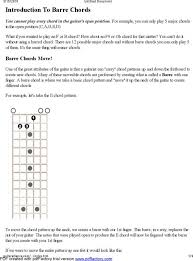 Download Example Basic Guitar Chord Chart With Fingers For