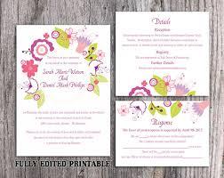 Invitation Downloads Gorgeous Printable Wedding Invitation Suite Printable Boho Invitation Wreath