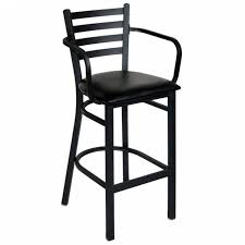 ladder back metal bar stool with arms with bar stools with backs and arms