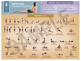Teacher Training Integrative Amrit Method Of Yoga Level 1 Sequence Chart