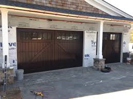 Garage Door wood garage doors photographs : Custom wood garage doors in sapele mahogany   AJ Garage Door ...