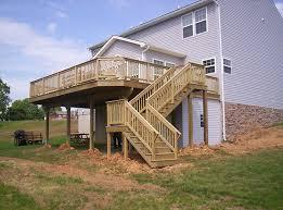 Backyard Deck Design Ideas New Deck Steps With Landing Deck Steps Decks R Us Glass Railing Designs