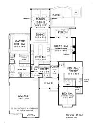 Glastonburg 5258  3 Bedrooms And 25 Baths  The House DesignersFloor Plans With Stairs