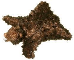 Faux Bearskin Rug Brown Bear Skin Rug Bear Skin Rug With Taxidermy Bear Head Faux