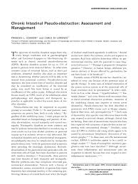 chronic intestinal pseudo obstruction assessment and management