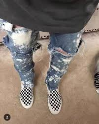 whole 2017 new kpop skinny ripped korean hip hop fashion pants cool mens urban clothing