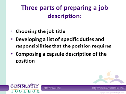 composing job preparing job descriptions and selection criteria ppt download