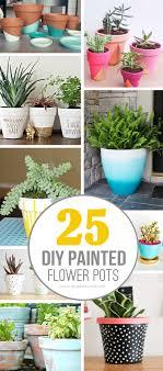 25 DIY Painted Flower Pot Ideas...youu0027ll LOVE | Via Make