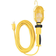Coleman Cable 25 Trouble Light With Metal Guard And Outlet