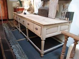 large french antique work table in oak sold