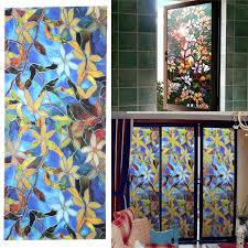 window stained glass magnolia privacy window decorative stained glass window stained glass