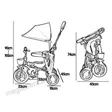 Tricicli Bambini Leggero Pieghevole Per Bambini Da 2 A 5 Anni