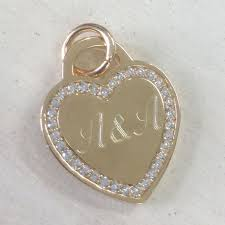 tiffany heart necklace gold engraved heart zircons heart pendant inscribed names necklace engraved names necklace heart necklace