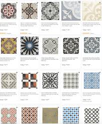dozens of encaustic cement tiles on