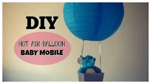 diy hot air balloon baby mobile