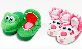 Stompeez Slippers Size Chart 12 99 For One Pair Of Stompeez Childrens Slippers 19 99 List Price Multiple Animals Available Free Returns
