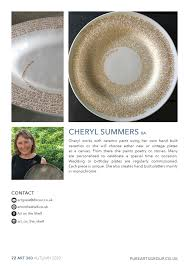 Pure arts group - Cheryl Summers works with ceramic paint... | فېسبوک