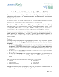 How To Request An Initial Evaluation For Special Education