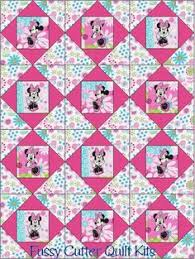 Disney Quilts! Completely Customizable   Disney quilt, Etsy and ... & Quilts I Love Minnie Mouse Pink Blue Green Floral Flowers Fabric Baby Child  Fast Easy Make Pre-Cut Quilt Blocks Top Kit Quilting Squares Pieces Material Adamdwight.com