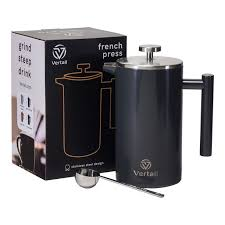 Making coffee via french press is more art than science. French Press Coffee Maker 34oz Stainless Steel Double Wall Vacuum Insulated Rust Free With Bonus Tablespoon Scoop By Vertall Gray Walmart Com Walmart Com