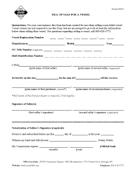 nc bill of sale form download free north carolina vessel bill of sale form form